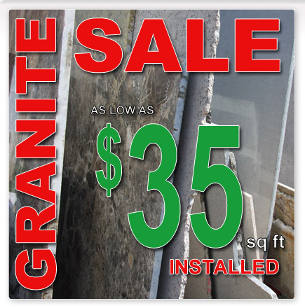 Granite Sale - As low as $35 Installed!